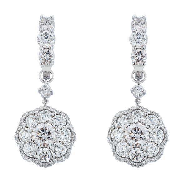 DIAMOND ROSITA DANGLING EARRINGS